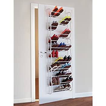 Amazon Whitmor Over The Door Shoe Rack 36 Pair Fold Up Non