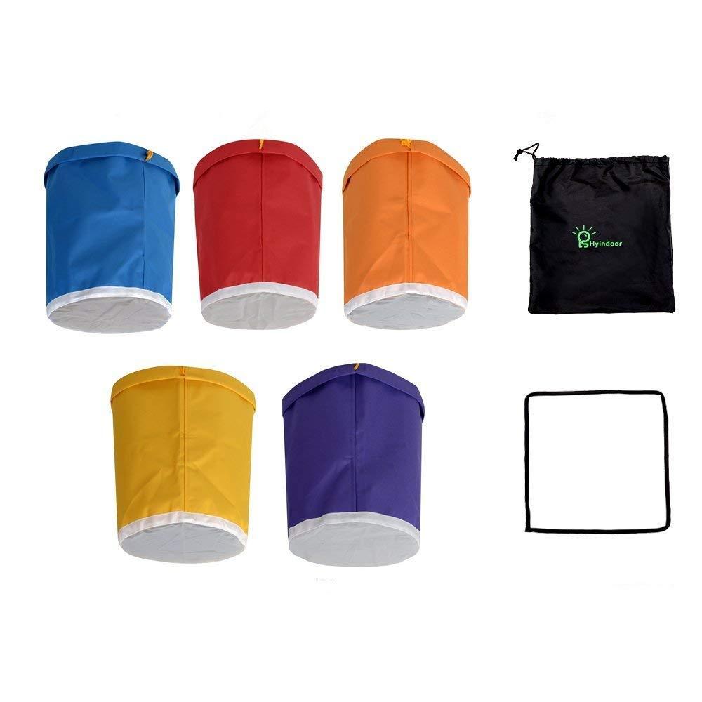 Hyindoor 20L 5 Gallon 5 Beutel Krautig Eis Bubble Bag Essenz Extractor Kit für Kräuterextraktion und Produktion von Hasch durch Eisextraktion