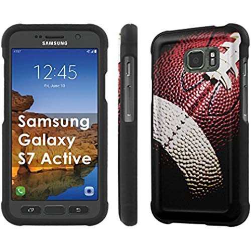 AT&T [Galaxy S7 Active] [5.1 Screen] Armor Case [NakedShield] [Black] Total Armor Protection [Shell Snap] + [Screen Protector] Phone Case - [Football] for Samsung Sales