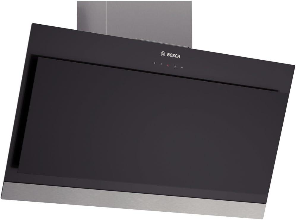 Bosch DWK09G660 Campana de pared, 40 W, Vidrio, Acero inoxidable, 3 Velocidades, Negro: Amazon.es: Grandes electrodomésticos