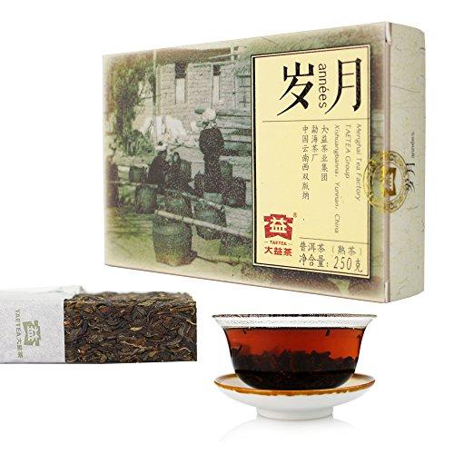 TAETEA Time and Tide Ripe PU'ER Brick TEA 10th Anniversary Edition Organic Black Tea