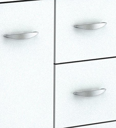 Inval America 4 Door Storage Cabinet with Microwave Cart, Laricina White by Inval America (Image #7)