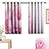 Best Greenland Home Home Fashion Pinks - Luckyee Pink and White Blackout Draperies for Bedroom Review