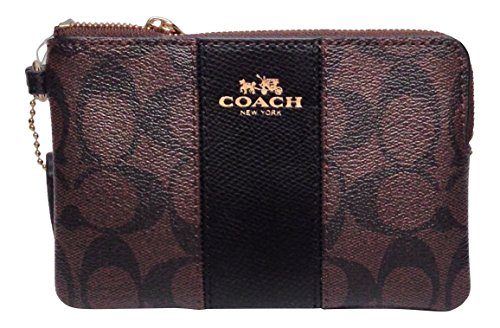 coach-signature-pvc-leather-corner-zip-wristlet-64233