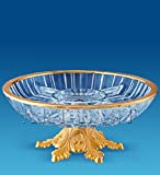24k Gold Plated 4 Sectional Crystal Fruit Plate