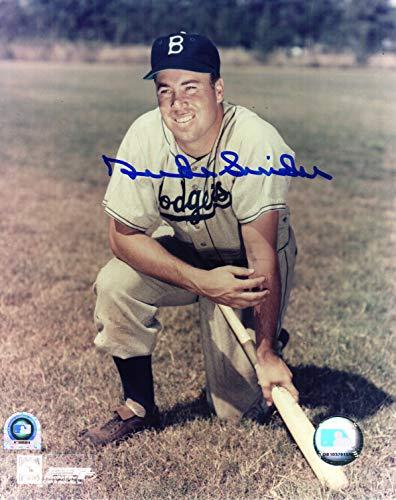 Duke Snider Signed Dodgers Pose With Bat 8x10 Photo (MLB Hologram)
