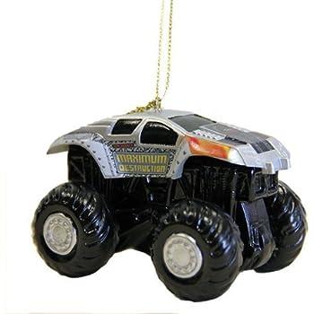 """3.5"""" Monster Jam Maximum Destruction Monster Truck Christmas Ornament"""