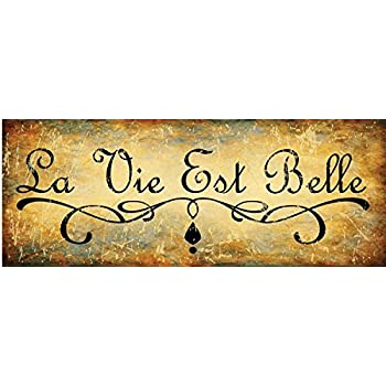 Amazon.Com: La Vie Est Belle Metal Sign, Life Is Beautiful, French