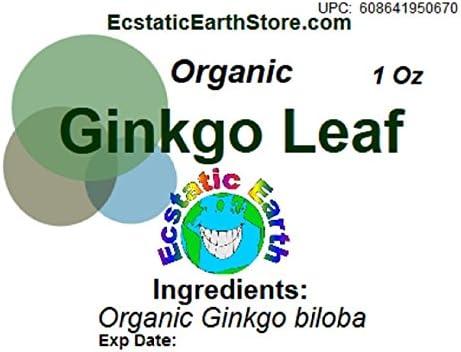 Organic Ginkgo Biloba Leaf Dried 1 Ounce Ginkgo biloba