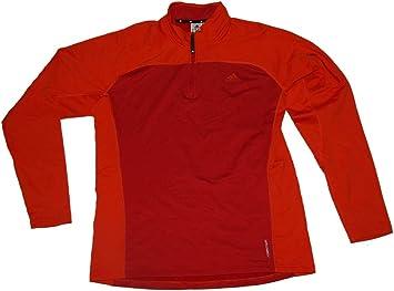 Adidas Terrex Swift 12 Zip Climawarm Sweatshirt Red XXL