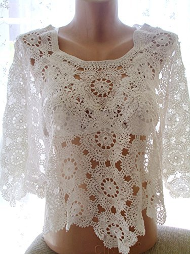 Needle lace tunic, wedding wrap, crochet lace cover up, crochet lace summer top, handmade top, clothing, crochet tunic by crochets4world