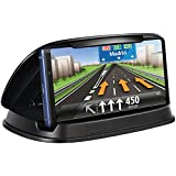 Car Phone Mount, Dashboard Cell Phone Holder, Universal Dash GPS Mounts, GPS Stand Cradle, Car Holder Compatible for iPhone X 8 Plus 7 Plus, Samsung Galaxy Note 9 8 S9 S8, 3-6.8 inch Smartphone Black
