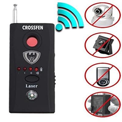 Crosfen Rf Detector - Camera Detector - Bug Detector - Security Camera Detector - Anti-Spy Hidden Camera Laser - Spy Camera Detector - Hidden Camera Detector - Hidden Camera Laser Lens GSM Finder from Crosfen