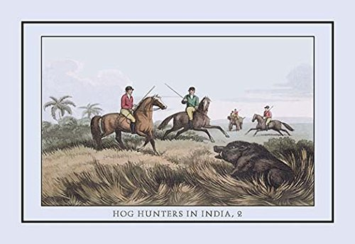 Buyenlarge Hog Hunters in India, No. 2 - Gallery Wrapped 32''X48'' canvas Print., 32'' X 48''''