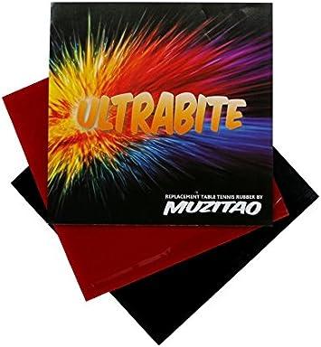 ultrabite tenis de mesa caucho por Muzitao (2unidades, 1x rojo + 1x negro) raqueta de tenis de mesa de recambio gomas
