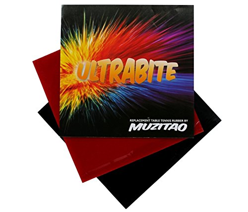 Find Cheap UltraBite Table Tennis Rubber by Muzitao (2 Pack, 1 x Red + 1 x Black) Table Tennis Bat R...