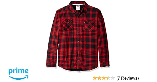 ca10bf075d Levi s Men s Thorton Long Sleeve Sherpa Lined Flannel Woven at Amazon Men s  Clothing store