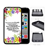 Jeremiah 29:11 Religious Bible Verse Colorful Flower Borders [iPhone 5c] Rubber Silicone TPU Cell Phone Case