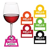 Creative Converting 325094 Hello Is Wine Glass Name Tags,