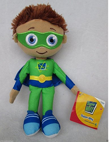 """9"""" NEW Rare Learning Curve PBS Show Super Why Whyatt Wyatt Boy Plush Doll Toy"""