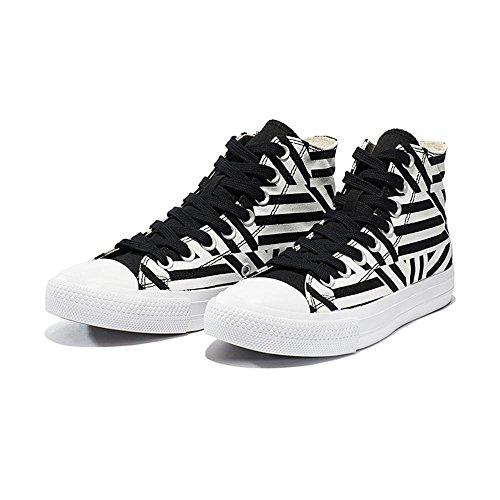 39 black alto plano ocasional atlética zapatillas NSX talón las mujeres plana la BLACKANDWHITE lona de de de deporte top las patín 36 la del inferior de white de and parte xXXSaqpTw