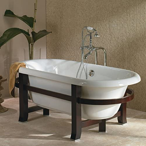 Jacuzzi EV00959WH Era Freestanding Collection 71-Inch by 42-Inch by 19-Inch Double-Ended Tub Soaker, White Finish