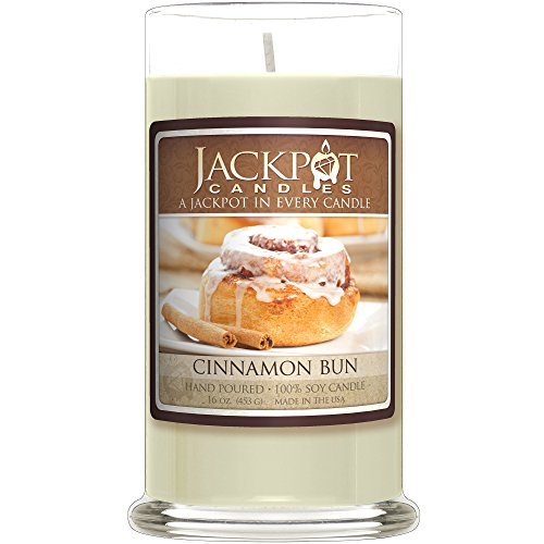 Cinnamon Bun Candle with Ring Inside (Surprise Jewelry Valued at $15 to $5,000) Ring Size 8