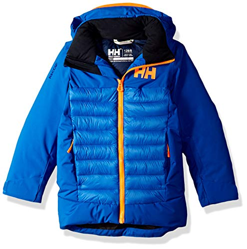 (Helly Hansen Jr Waterproof Summit Ski Jacket, Olympian Blue, Size 8)