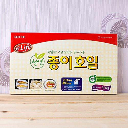 Lotte e-life Natural Pulp Cooking & Baking Paper Sheets-26.7cm x 30 sheets