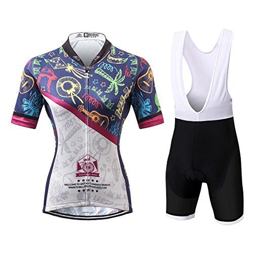 [해외] Thriller Rider Sports 싸이클 저지 레이디스 여성 자전거 운동 복장 반소매 Summer