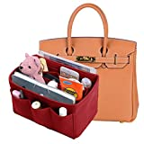 Felt Purse Organizer Insert New Design Bag Organizer With Sewn Bottom Insert Bag In Bag Organizer For Hermes Birkin35(Red)