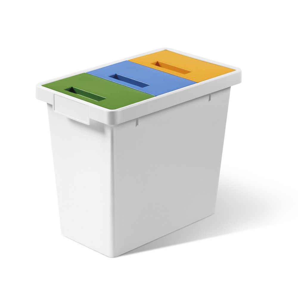 POLY - Mini sistema modulare per la raccolta differenziata per interni - 40 lt totali Mattiussi Ecologia S.p.A.