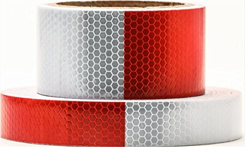 Red White Honeycomb reflective tape 1