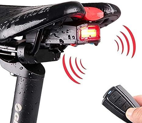 ZSR-haohai Accesorios para Bicicletas Luz Trasera COB LED Alarma ...