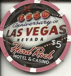 $5 hard rock casino las vegas casino chip centennial obsolete