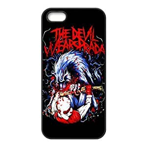 Gators Florida USA Music Band D4 The Devil Wears Prada Print Black Case With Hard Shell Cover for Apple iPhone 5S
