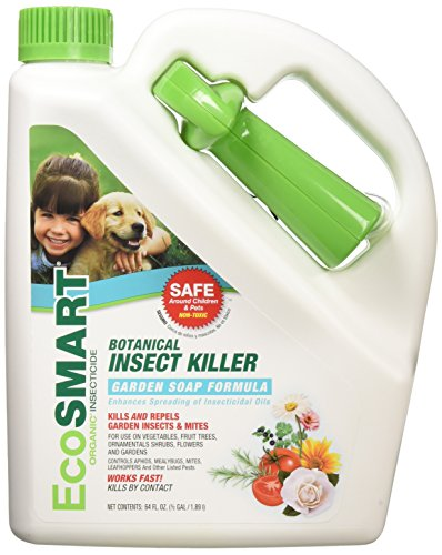 Ecosmart Organic Botanical Garden Insect Killer, Non-Toxic Garden Soap Formula, 64 Ounce Bottle Ready-to-Spray Bottle