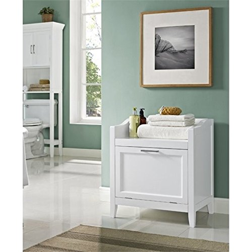 Atlin Designs Storage Hamper Bench in White