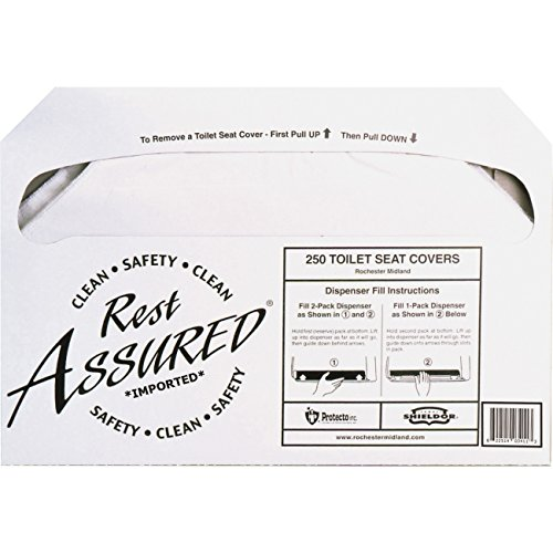 Impact Products Rest Assured Toilet Seat Covers (1 Pack - 250 Count) - Clean and Hygenic - Convenient - Self-Disposing - Flushable and Biodegradable …