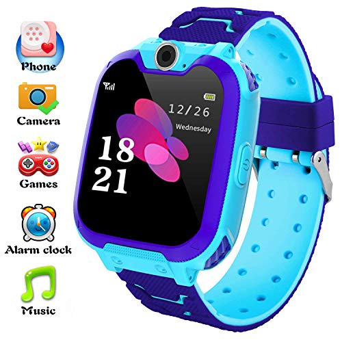 Kids Smart Watch Phone, Music and 7 Games Smartwatch for Children 3-12  Years Girls with Camera SIM Card Slot Touch Screen Game Smart Watch Phone