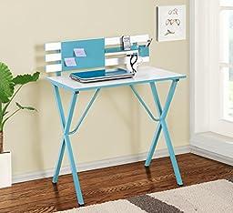 Kings Brand Furniture Kids Children\'s Computer Writing Desk, Blue
