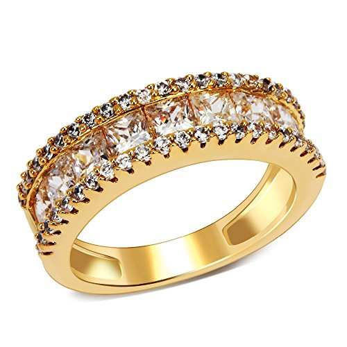 PSRINGS Lord of the Rings gold plated with Cubic zircon copper Ring lucky jewelry 9.0 (Of Cell Film Mini Rings Lord The)