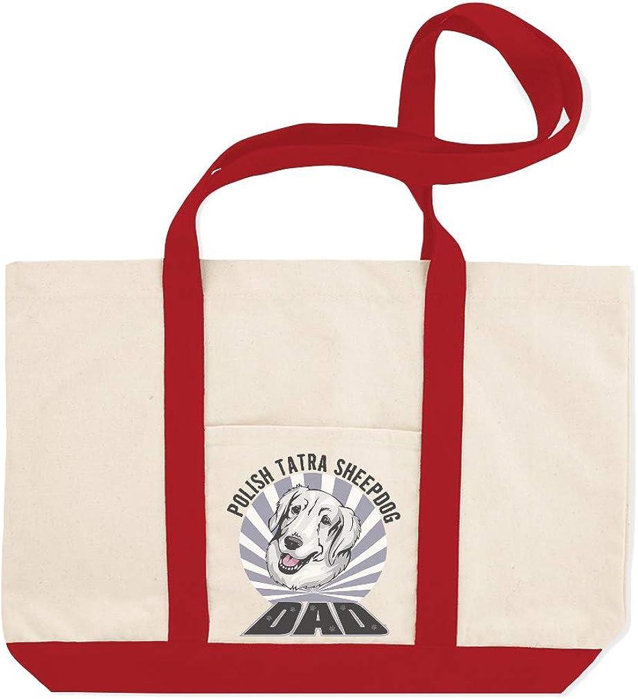 Canvas Shopping Tote Bag Dad Polish Tatra Sheepdogdog Polish Tatra Sheepdog Beach Bags for Women