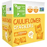Real Food From the Ground Up Cauliflower Crackers (Cheddar) 14.1 oz / 400 g