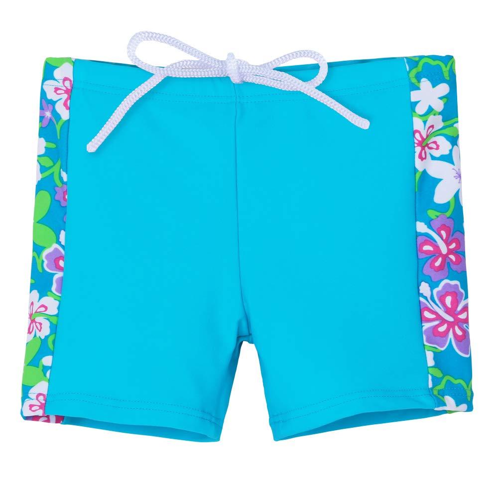 HUANQIUE Girls Swimsuit UPF50 1-12 Years Two Piece Tankini