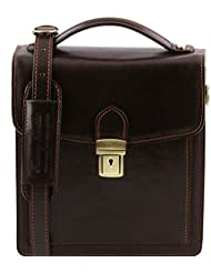 Tuscany Leather David Leather Crossbody Bag - Small size Leather bags for men