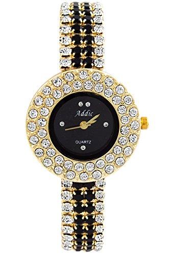 Addic Fashion Black Dial Stone Studded Belt Watch For Womens And Girls – FashionWW2