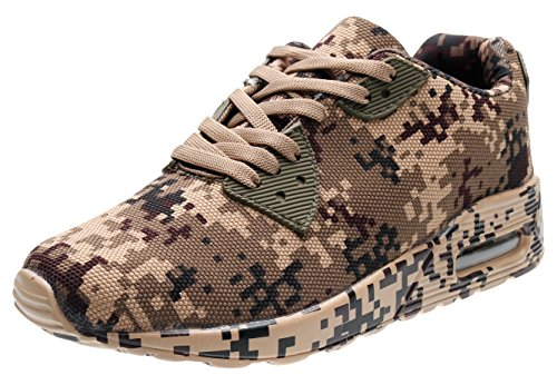 PORTANT Unisex Womens Daily Walking Workout Shoe Camo Fashion Classic Sneaker Ladies Lightweight Comfortable For Trousers hoodie Sweatshirt T-Shirt cap Jack Pants Brown, Army Green, Black 5.5 Us Women