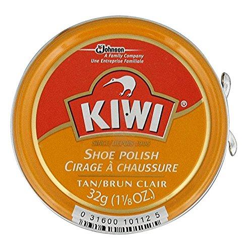 Kiwi Shoe Polish Paste, 1-1/8 oz, Tan (Pack - 3)