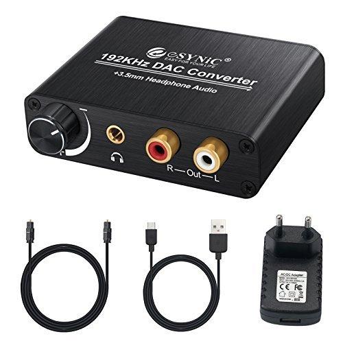 192kHz DAC Decodificador con Amplificador de Auriculares Digital a Analogico Audio Decoder SPDIF Toslink a Analogico ESTšŠreo L/R RCA 6.35mm Jack Audio ...